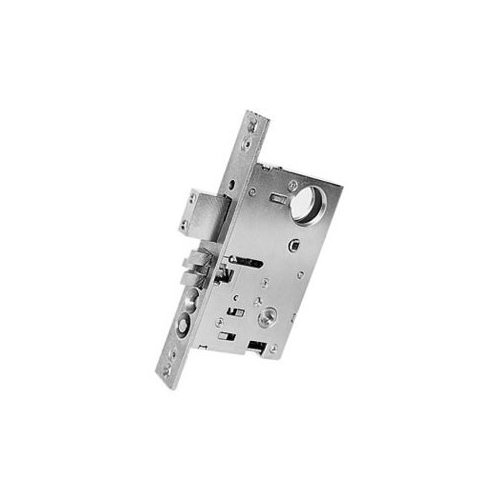Satin Brass and Brown Emergency Egress Mortise Lock with 2-3//4 Baldwin 6075.R Right Handed Entrance