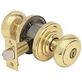 Schlage F54AND605AND Accents Series Andover Keyed Entry Door Knob Set