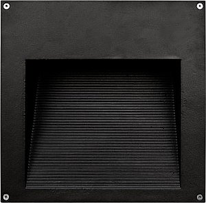 Dabmar Lighting DSL1102 Large Recessed Brick/Step/Wall Light with Ribbed Interior in Black