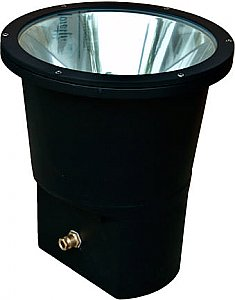 Dabmar Lighting DW1975 Large Cast Aluminum In-Ground Well Light in Black