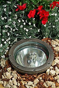 Dabmar Lighting FG4380 Fiberglass In-Ground Well Light in Bronze