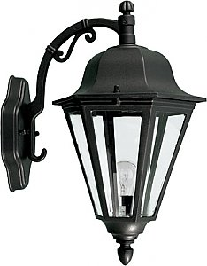 Dabmar Lighting GM136 Powder Coated Cast Aluminum Wall Light Fixture in Black