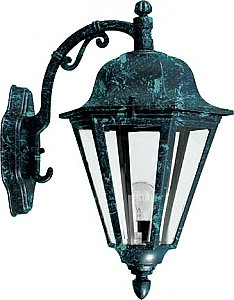 Dabmar Lighting GM136 Powder Coated Cast Aluminum Wall Light Fixture in Verde Green