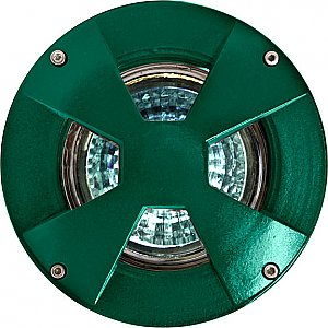Dabmar Lighting LV307-MR Cast Aluminum Drive Over In-Ground Well Light in Green