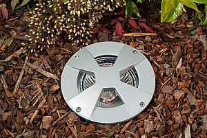 Dabmar Lighting LV307-MR Cast Aluminum Drive Over In-Ground Well Light in Gray
