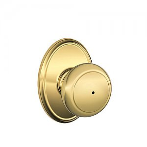 Schlage F40AND605WKF F-Series Privacy Andover Door Knobset