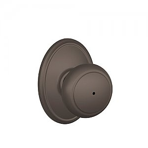 Schlage F40AND613WKF F-Series Privacy Andover Door Knobset