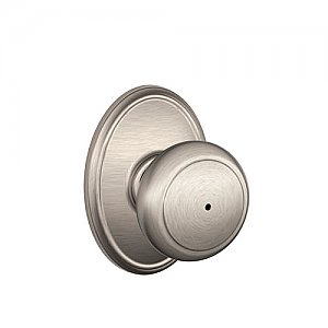 Schlage F40AND619WKF F-Series Privacy Andover Door Knobset