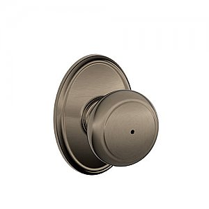 Schlage F40AND620WKF F-Series Privacy Andover Door Knobset