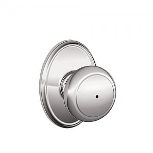 Schlage F40AND625WKF F-Series Privacy Andover Door Knobset