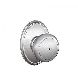 Schlage F40AND626WKF F-Series Privacy Andover Door Knobset