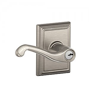 Schlage F51FLA619ADD F-Series Keyed Entry Flair Door Leverset