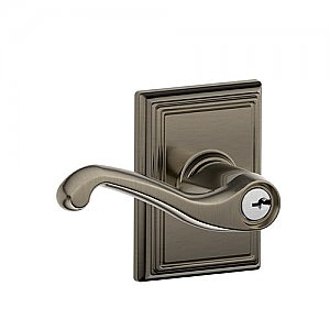 Schlage F51FLA620ADD F-Series Keyed Entry Flair Door Leverset